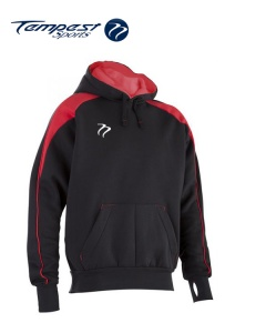 Tempest 'CK' Black Red Hooded Sweatshirt